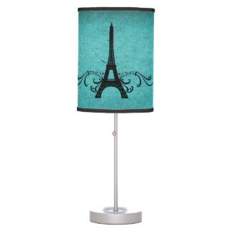 Teal Vintage French Flourish Table Lamp