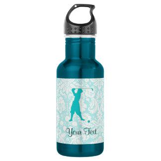 Teal Vintage Golfer 18oz Water Bottle
