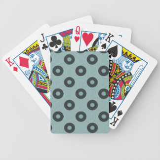 Teal Vinyls Bicycle Playing Cards