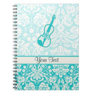 Teal Violin Notebook