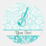 Teal Violin Sticker