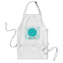 Teal Volleyball Adult Apron
