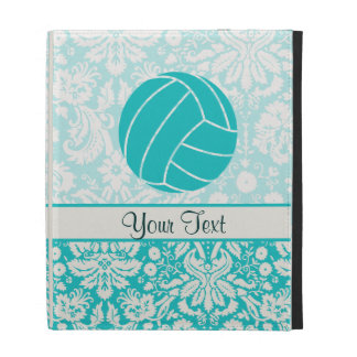 Teal Volleyball iPad Folio Cover