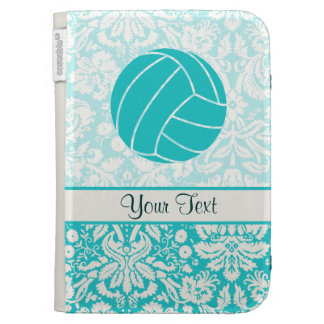 Teal Volleyball Kindle Keyboard Cases