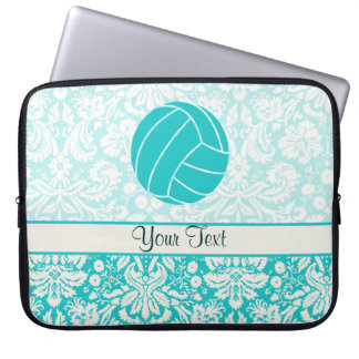 Teal Volleyball Computer Sleeve