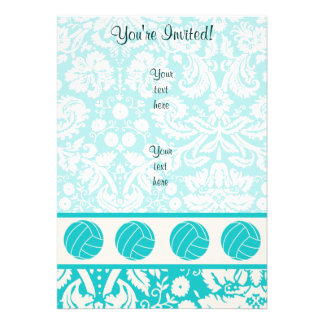 Teal Volleyball Custom Announcements