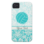 Teal Volleyball iPhone 4 Cases