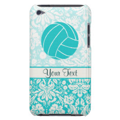 Teal Volleyball Ipod Case-mate Case at Zazzle