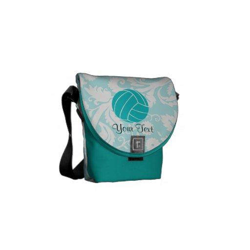 Teal Volleyball Messenger Bag