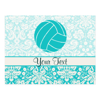Teal Volleyball Postcard