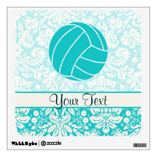 Teal Volleyball Room Sticker