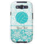 Teal Volleyball Samsung Galaxy S3 Cases