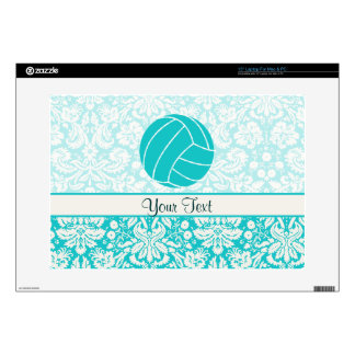 "Teal Volleyball 15"" Laptop Skin"