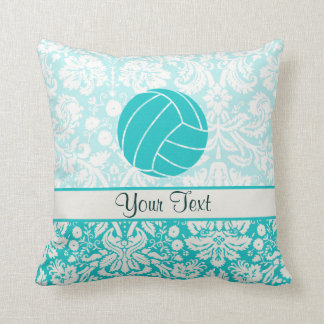 Teal Volleyball Throw Pillow