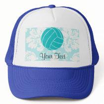Teal Volleyball Trucker Hat