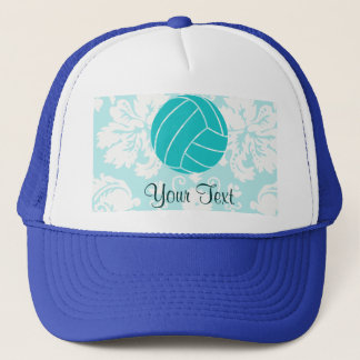 Teal Volleyball Trucker Hat