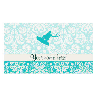 Teal Wakeboarder Double-Sided Standard Business Cards (Pack Of 100)