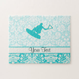 Teal Wakeboarder Jigsaw Puzzle
