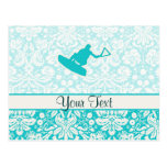 Teal Wakeboarder Post Card