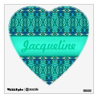 Teal Water Ripples Waves Blue Jewels jewel Faceted Wall Sticker