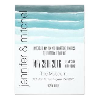 Teal Watercolor Invitation