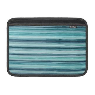 Teal Watercolor Painted Stripes (Teal, Cyan, Blue) MacBook Air Sleeves
