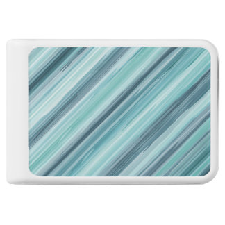 Teal Watercolor Painted Stripes (Teal, Cyan, Blue) Power Bank
