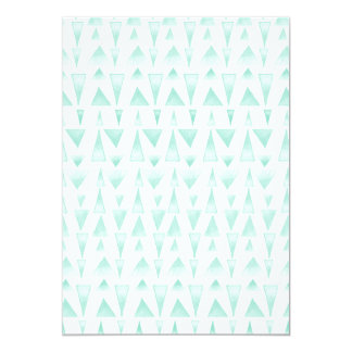 """Teal Watercolor Triangle Pattern 5"""" X 7"""" Invitation Card"""