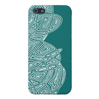 Teal Waves Cover For iPhone SE/5/5s