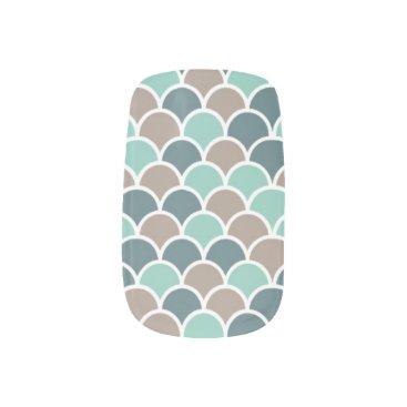 Beach Themed teal waves  Minx® nail art