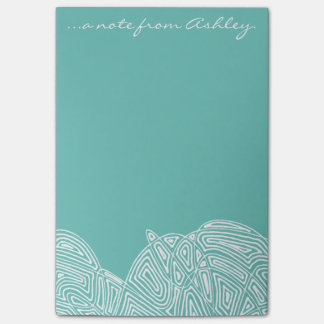 Teal Waves Post-it Notes