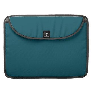 TEAL WE MEET AGAIN (solid color) ~ Sleeves For MacBooks