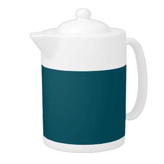 TEAL WE MEET AGAIN (solid color) ~ Teapot