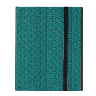Teal Weave Mesh Look iPad Folio Case