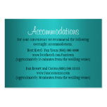 Teal Wedding Accommodation - Reception Cards Large Business Cards (Pack Of 100)