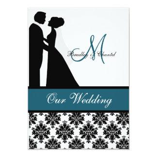 Teal Wedding Couple Wedding Invitation