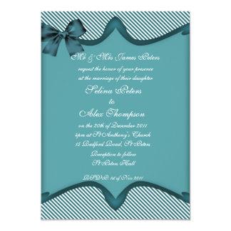 Teal Wedding Invitation