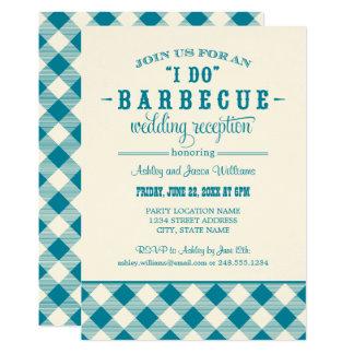 Teal Wedding Reception | I Do BBQ Card