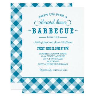 Teal Wedding Rehearsal Dinner | Casual BBQ Card