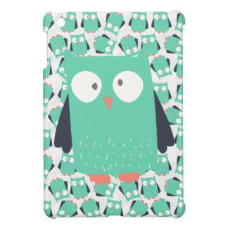 Teal Whimsical Owls iPad Mini Cover