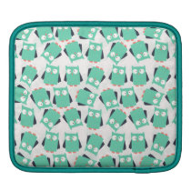 Teal Whimsical Owls iPad Sleeve