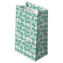 Teal Whimsical Owls Small Gift Bag