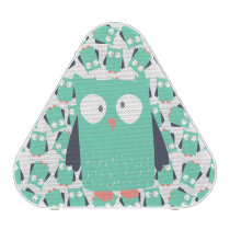 Teal Whimsical Owls Speaker