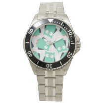 Teal Whimsical Owls Wrist Watch