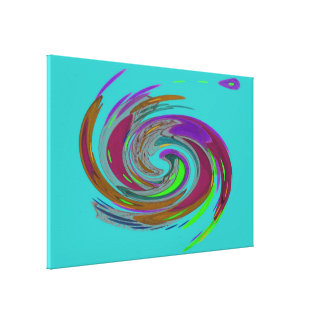 Teal Whirlwind Fine Art Canvas Print