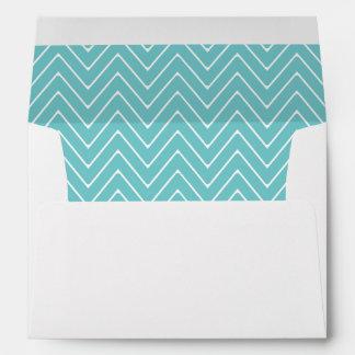 Teal White Chevron Pattern 2A Envelopes