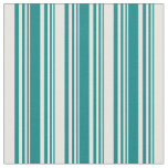 [ Thumbnail: Teal & White Colored Lines/Stripes Pattern Fabric ]