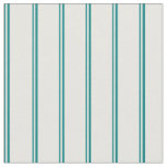 [ Thumbnail: Teal & White Lines Fabric ]