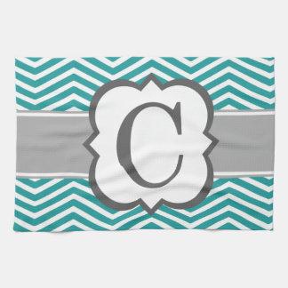 Blue And Gray Chevron Kitchen Towels Zazzle