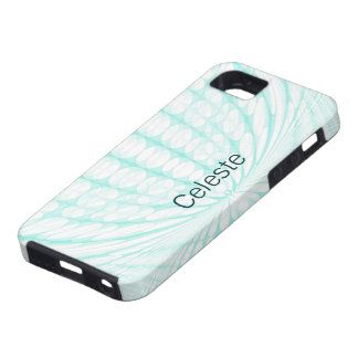 Teal ~ White Retro Dots iPhone 5 Case-Mate Case